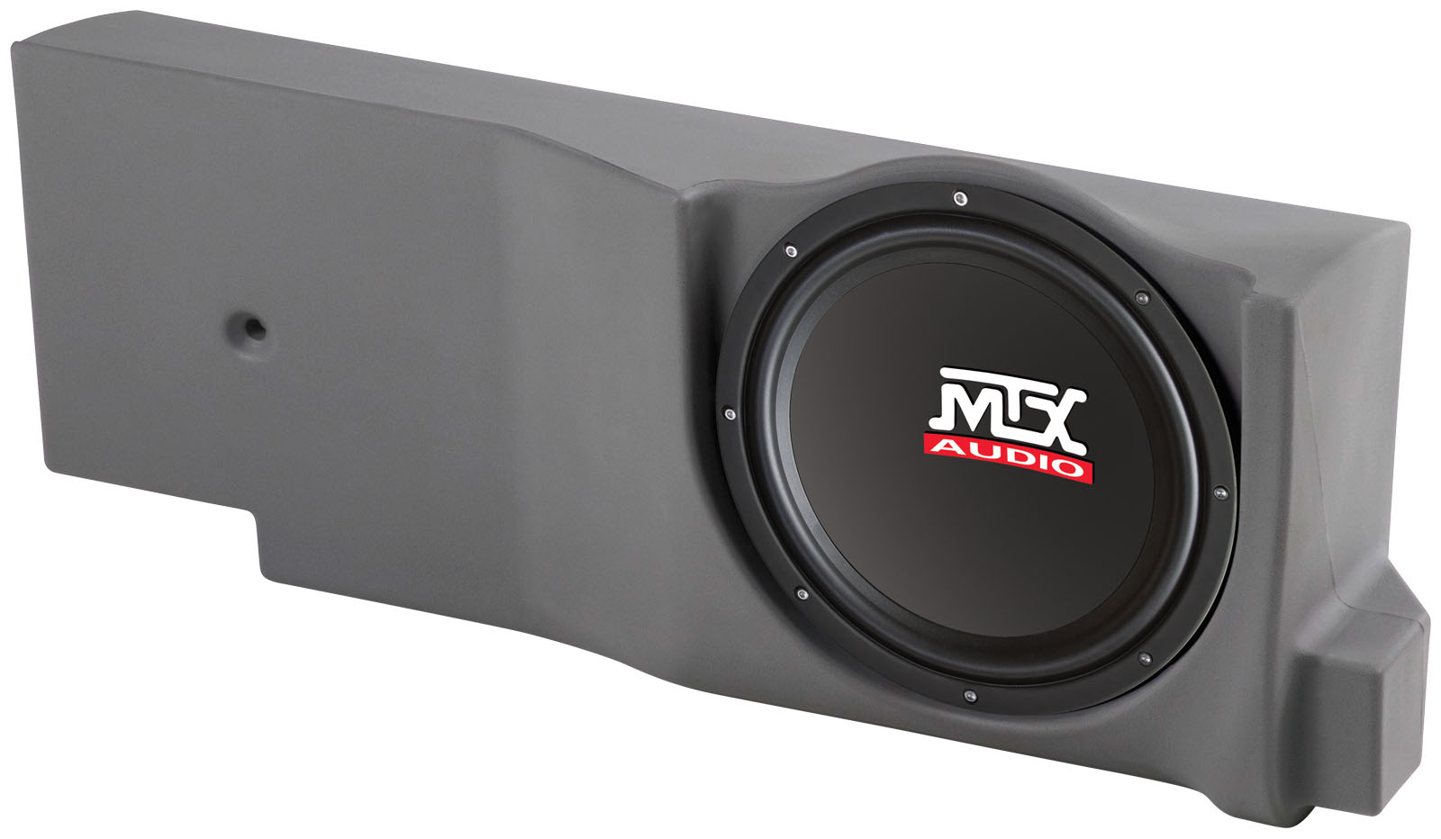 search mtx audio serious about sound® mtx thunder box ford f 150 crew extended cab loaded 12 inch 200w rms 4 ohm vehicle specific custom subwoofer enclosure (f150c04c12 tn)