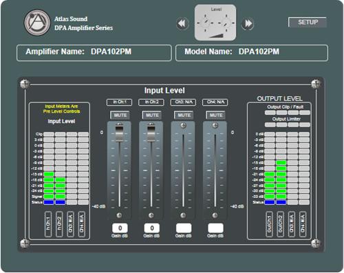 2 Channel Networkable 200 Watt 4 Power Amplifier Atlasied