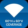 60°H x 60°V Coverage