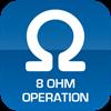 8Ω Operation