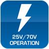 25V/70V Operation