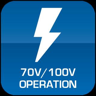 70V / 100V Operation