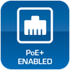 PoE+ Enabled