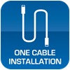 One Cable Installation