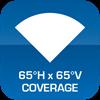 65°H x 65°V Coverage