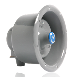 Picture of Flanged Emergency Horn Speaker with 15-Watt 25V/70V Transformer and Line Supervision Capability