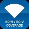 50°H x 50°V Coverage