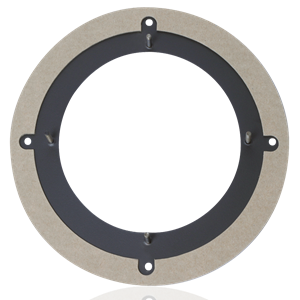 "Picture of Adaptor for 6"" speaker pattern to 8"" hole pattern"