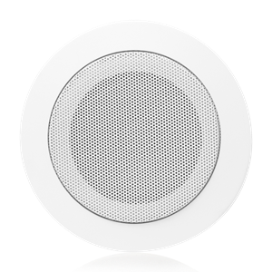 "Picture of 4"" In-Ceiling Speaker with 4-Watt 25V/70V Transformer and  T720-4 Baffle"