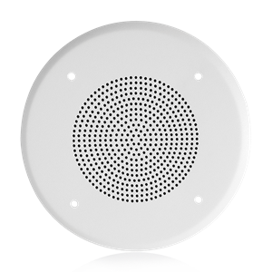"Picture of 4"" In-Ceiling Loudspeaker with 4-Watt 25V/70V Transformer and 51-4 Baffle"