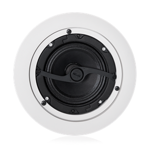 "Picture of 4"" In-Ceiling Full Range Loudspeaker with 8-Watt 70V/100V Transformer and Press Fit Grille"