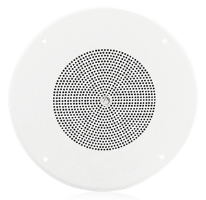 "Picture of 8"" In-Ceiling Loudspeaker with 4-Watt 25V/70V Transformer and 62-8 Baffle"