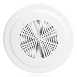 "Picture of 8"" In-Ceiling Speaker with 4-Watt 25V/70V Transformer and M222W Baffle"