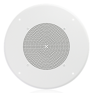 "Picture of 8"" In-Ceiling Speaker with 4-Watt 25V/70V Transformer and 62-8 Baffle"