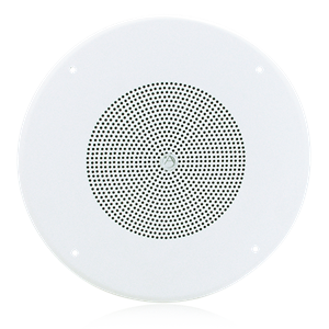 "Picture of 8"" Dual Cone In-Ceiling Speaker with 25V/70V 5-Watt Transformer and 62-8 Baffle"