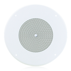 "Picture of 8"" Dual Cone In-Ceiling Speaker with 25V/70V 5-Watt Transformer and 62-8 Baffle with Volume Control"