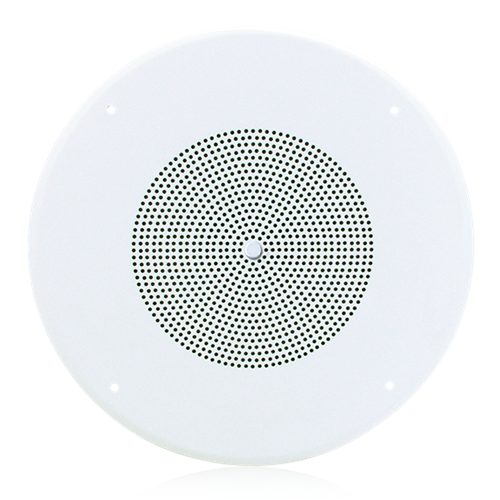 "Picture of 8"" Dual Cone In-Ceiling Loudspeaker with 25V/70V 5-Watt Transformer and 62-8 Baffle with Volume Control"
