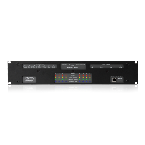Picture of Self Contained, Multi-Zone Digital Controlled Networkable Sound Masking Processor and 8-Channel Amplifier