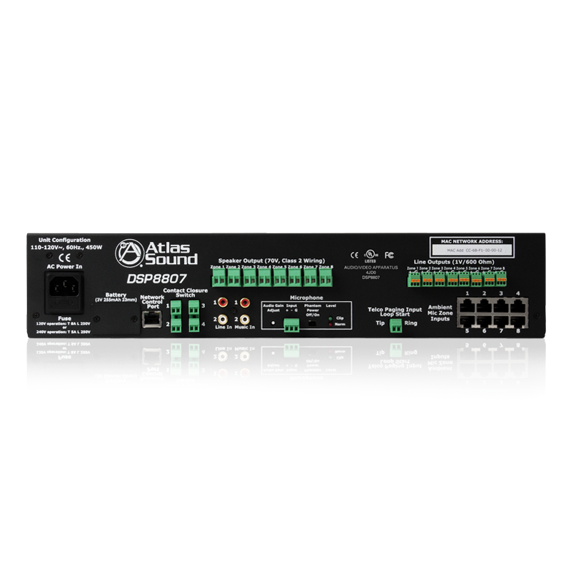 8 Channel Networkable Sound Masking Processor And