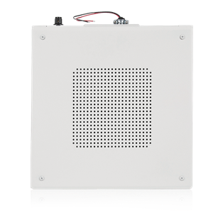 "Picture of 8"" Dual Cone Sound Masking Speaker with 4-Watt 70V Transformer and Enclosure - White"