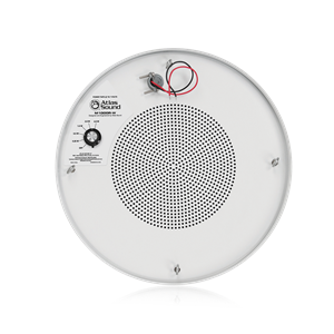 "Picture of 8"" Dual Cone Sound Masking Speaker with 4-Watt 70V Transformer and Enclosure - White and Round"