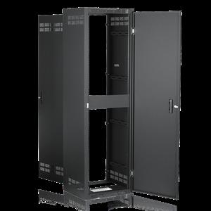 Picture of Welded Rack 18.5 inch Deep, 40RU  *Shown with OPTIONAL Front Door**