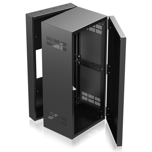 Picture of 19 inch Wide Opening Stand-Alone Wall Cabinet with Adjustable Rails, 15 inch D Center Section - 24 RU