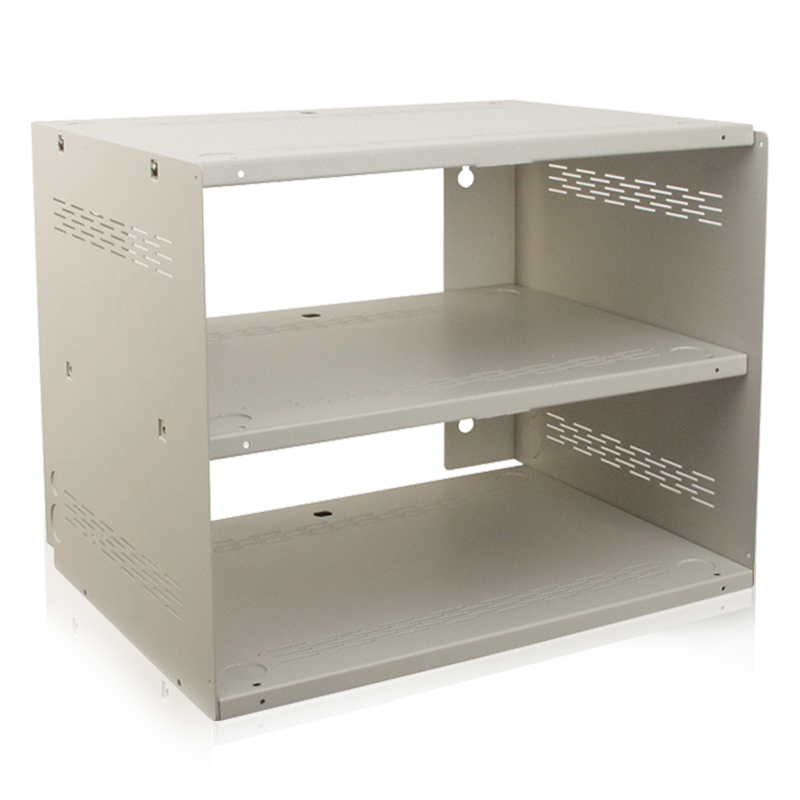 picture of wall mount shelf enclosure system finished in neutral white 592
