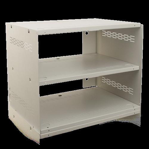 wall mount shelf enclosure system white atlasied. Black Bedroom Furniture Sets. Home Design Ideas