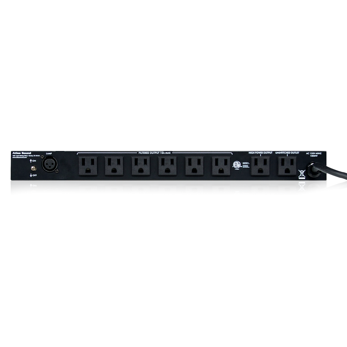 15a Ac Power Conditioner And Distribution Unit With Front Panel Dc Or Voltage Indicator Atlasied