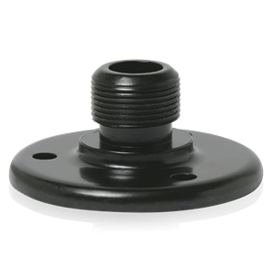 Picture of Surface Mount Male Mic Flange 5/8 inch #27 Thread Ebony - Bulk