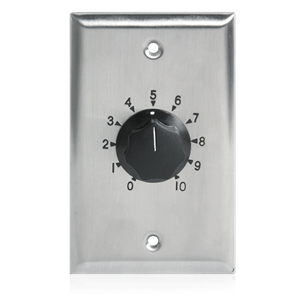 Picture of 10 Watt Single Gang Stainless Steel 70.7V Commercial Attenuator