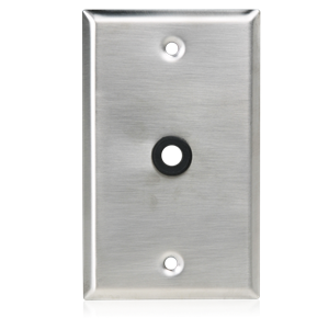 "Picture of Single Gang Stainless Steel Plate 3/8"" Hole & Grommet"
