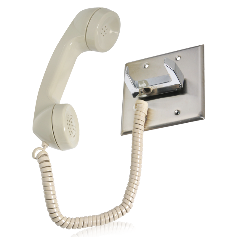 telephone intercom handset chrome hook switch atlasied. Black Bedroom Furniture Sets. Home Design Ideas