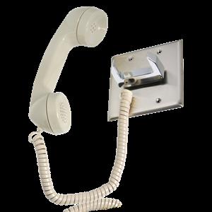 Picture of Telephone Intercom Handset / Chrome Hook Switch
