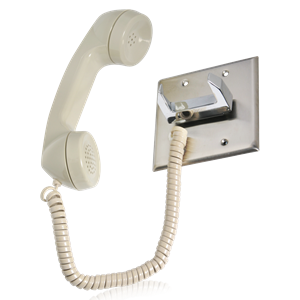 Picture of Telephone Intercom Handset / Chrome Hook Switch / Push to Talk Switch