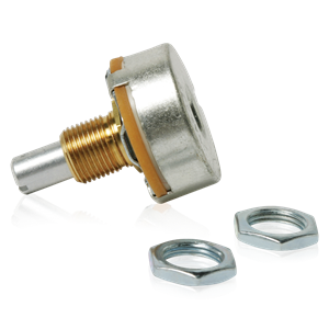 Picture of 50 Ohm Wirewound Potentiometer. 3 Watt.  Includes Mounting Hardware