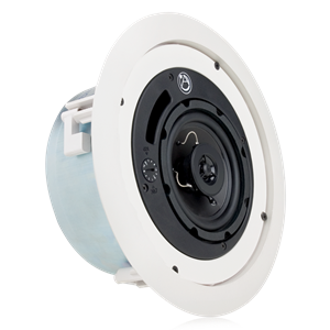 "Picture of 4"" Shallow Mount Coaxial In-Ceiling Loudspeaker with 16-Watt 70/100V Transformer and UL2043 Certification"
