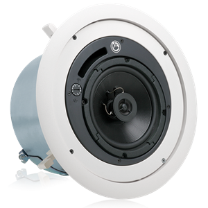 "Picture of 6"" Coaxial In-Ceiling Speaker with 32-Watt 70/100V Transformer and Ported Enclosure"
