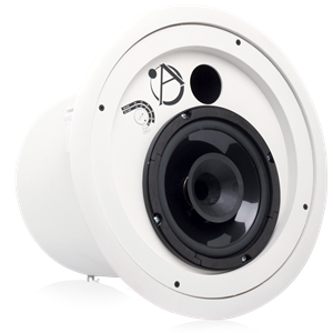 "Picture of 8"" Compression Driver Coaxial In-Ceiling Speaker with 60-Watt 70/100V Transformer and Ported Enclosure"