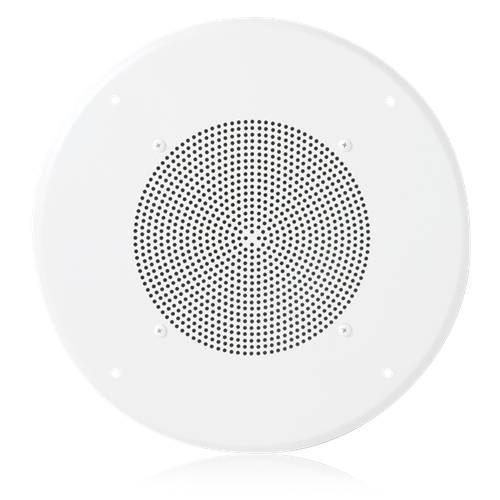 "Picture of 8"" In-Ceiling Loudspeaker for Fire Signaling  with 25V 5-Watt Transformer and U51-8 Baffle"