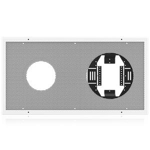 Picture of Perforated Baffle for 8 inch Speaker and 12 inch Analog Clock
