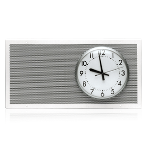 Picture of Perforated Baffle for 8 inch Speaker and 8 inch or 9 inch Analog Clock (Clock By Others)