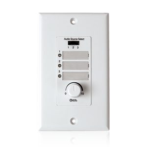 Picture of Wall Plate Input Select Switch with Volume Control 10k Pot and Input Indicator Use With AAPHD Amplifiers