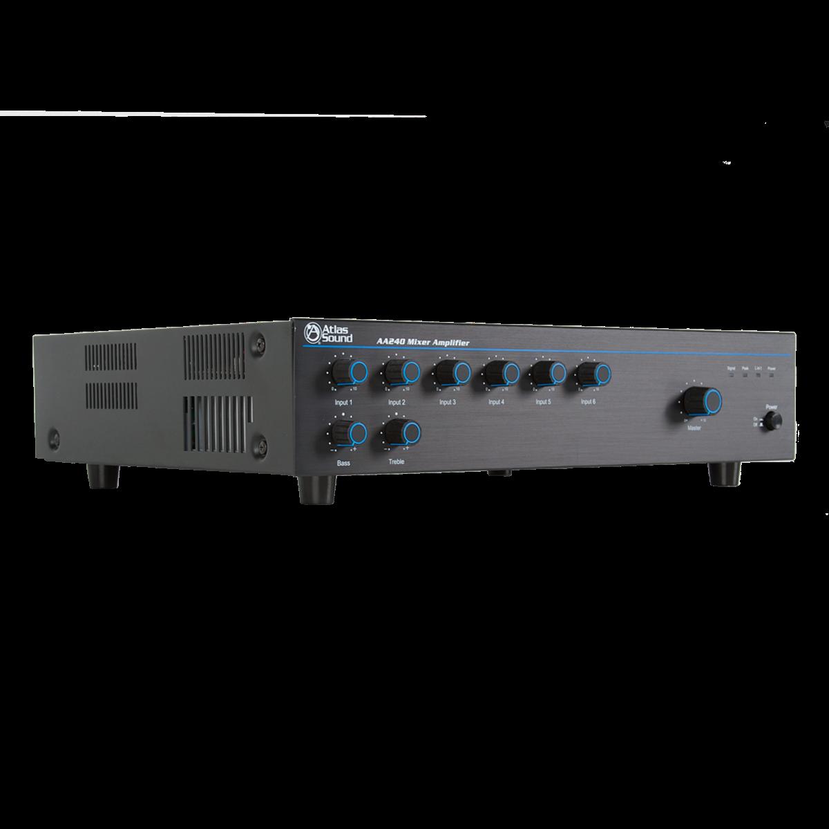 6 Input 240 Watt 25v 70v 100v 8 Mixer Amplifier Atlasied