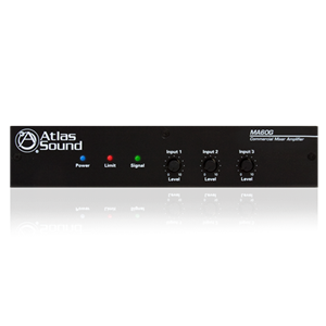 Picture of 3-Input, 60-Watt Mixer Amplifier with Global Power Supply