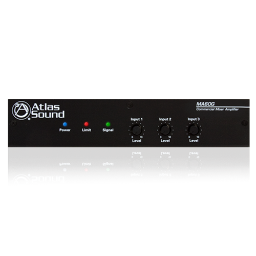 Picture of 3-Input, 60-Watt Mixer Amplifier with Global Power Supply