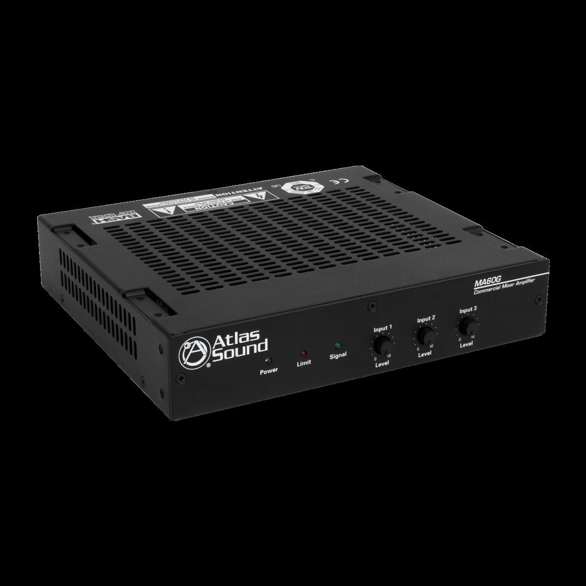 3 Input 60 Watt 70v 100v Mixer Amplifier With Global Power