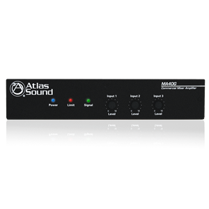 Picture of 3-Input, 40-Watt Mixer Amplifier with Global Power Supply