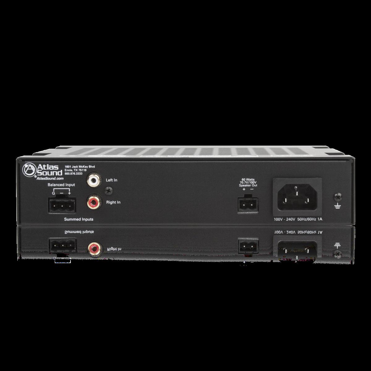 2 Input 60 Watt Single Channel Power Amplifier Atlasied